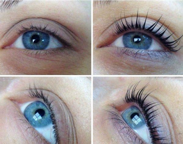 Пример ламинирования под небесно-голубые глаза  фото