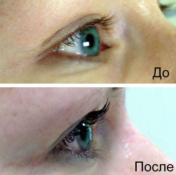 Ламинирование под серо-голубые глаза фото