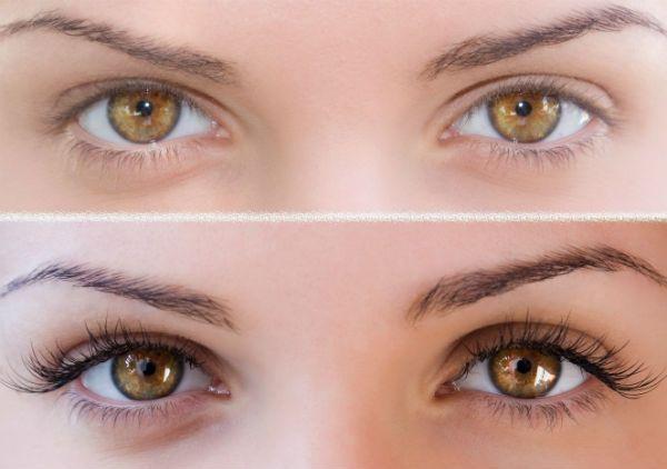 Ламинирование под янтарно-медовые глаза фото