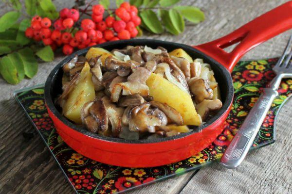 Жаркое из маслят и картошки фото