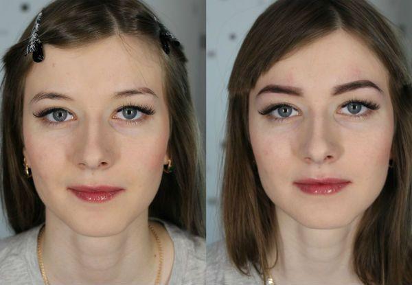 Окрашивание и моделирование правильной формы бровей био хной до и после фото