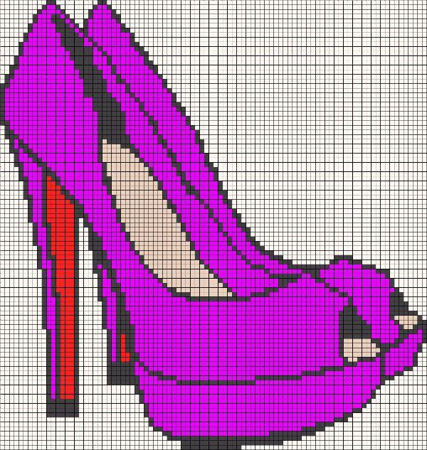 Фиолетовые лабутены фото