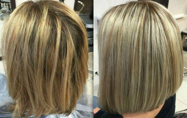 Мелирование на коротких волосах фото