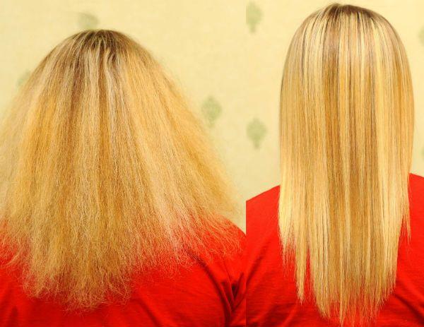 Насыщение светлых волос фото