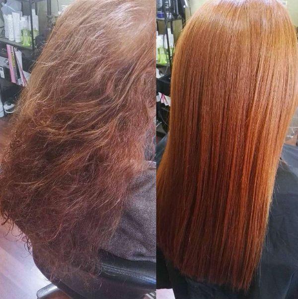 Насыщение волос фото