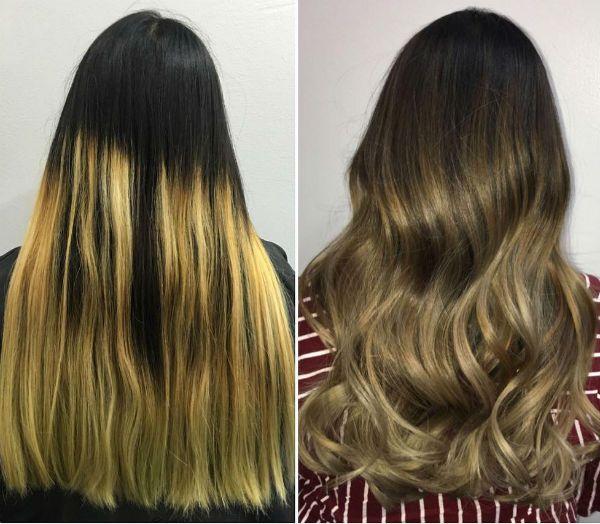 Эффект выгоревших волос фото
