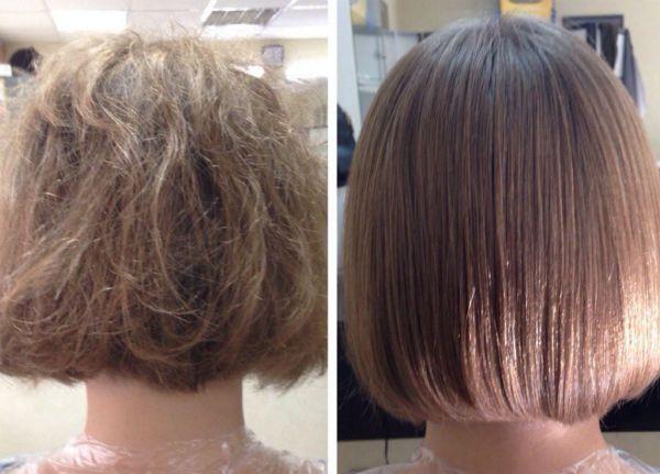 Ламинирование натуральных волос фото