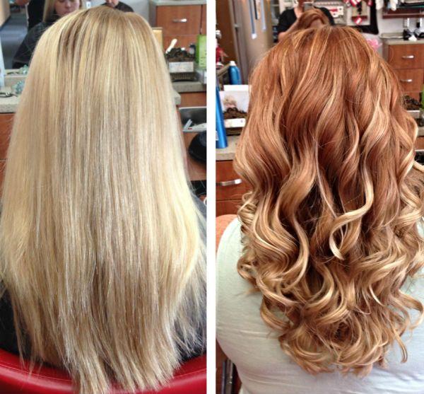 Окрашивание под выгоревшие рыжие волосы фото