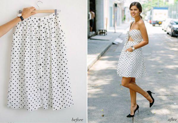 Платье из юбки 2 фото