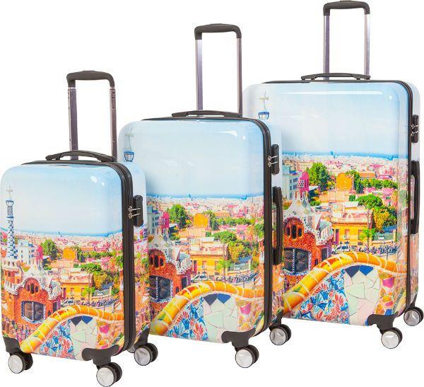 Пластиковый чемодан фото