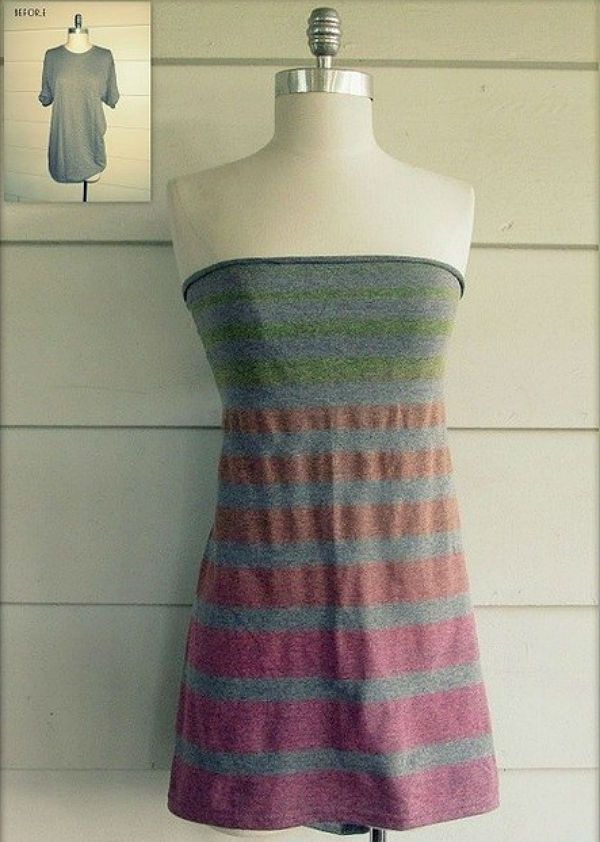 Платье из футболки фото