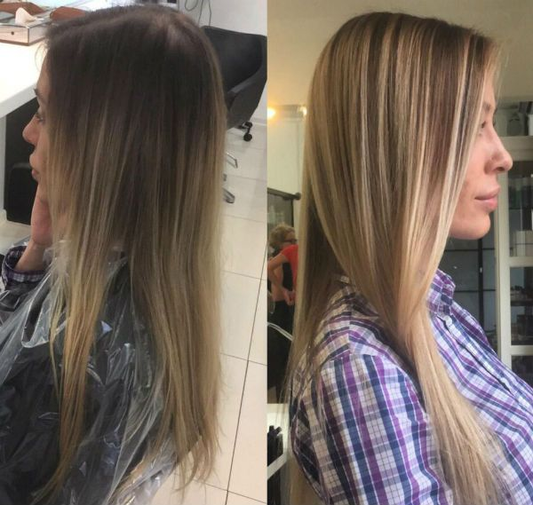 Мелирование по русым волосам фото