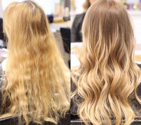 Восстановление волос с помощью шатуш-техники фото