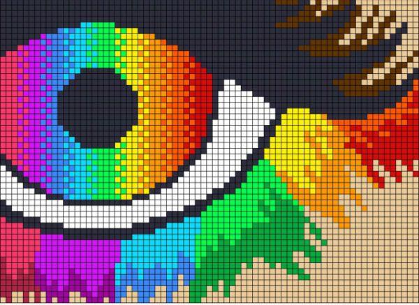 Радужный глаз фото