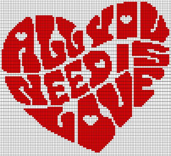 Сердце из букв фото