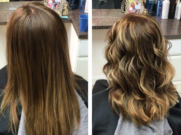 Шатуш на мелированных волосах фото