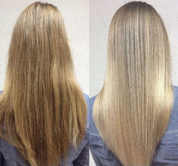 Шатуш на русых волосах фото