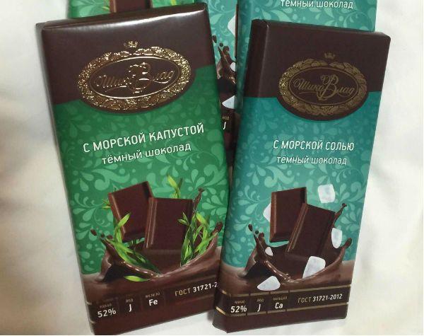 Шоколад с морской капустой и солью фото