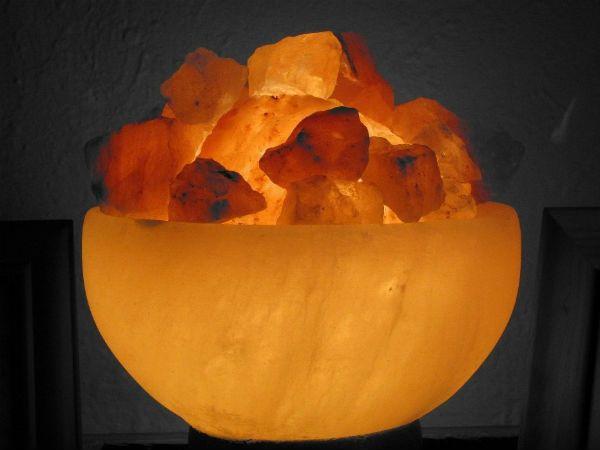 Светильник из соли фото