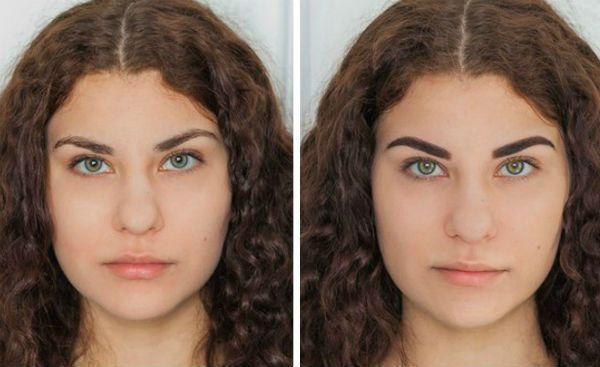 Результат биотатуажа и моделирования фото
