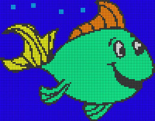 Веселая рыбка фото
