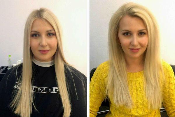 Буст ап фотография до и после