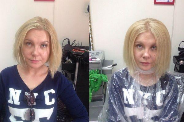 Буст ап на коротких волосах фото до и после