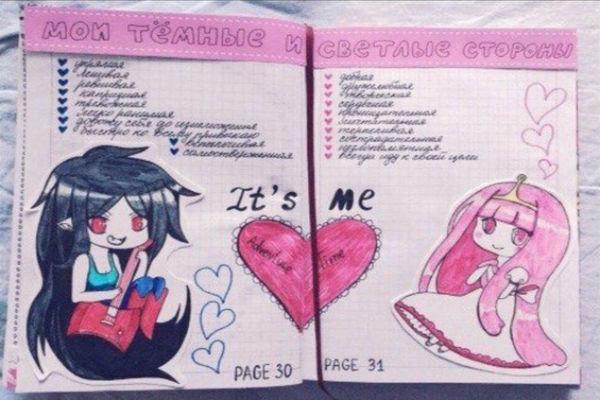 Рисунки в дневнике фото