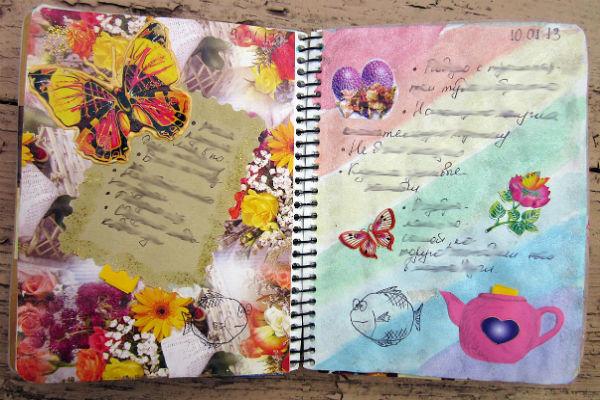 Оформление дневника наклейками фото