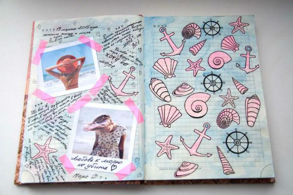 Морская тема для рисунков в дневнике фото