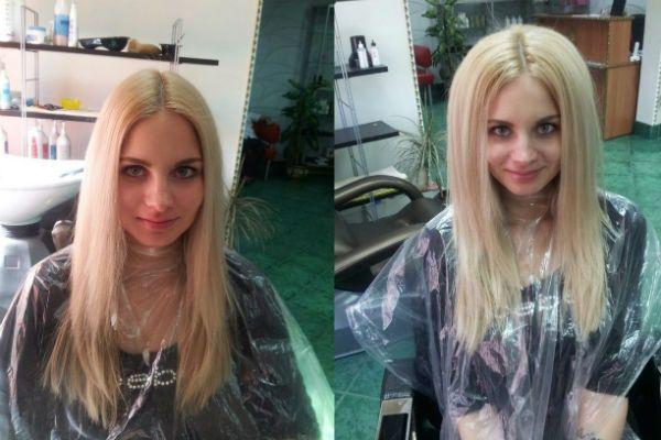 Прикорневой объем буст ап фото до и после