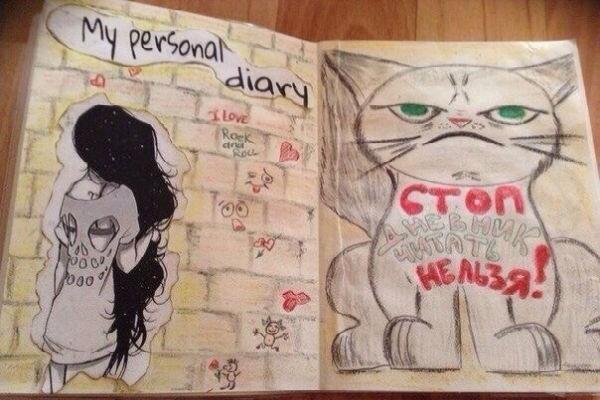 Оформление рисунками страницы дневника для девочки фото