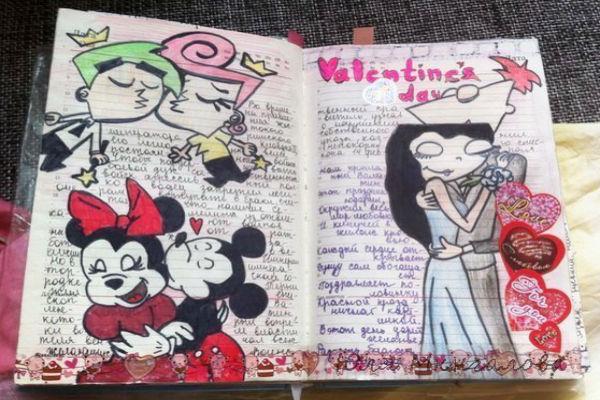 Оформление страницы дневника для девочки фото
