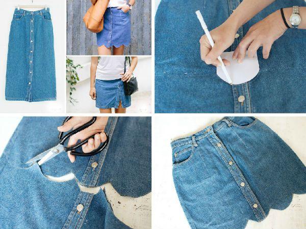 Две мини-юбки из одной фото