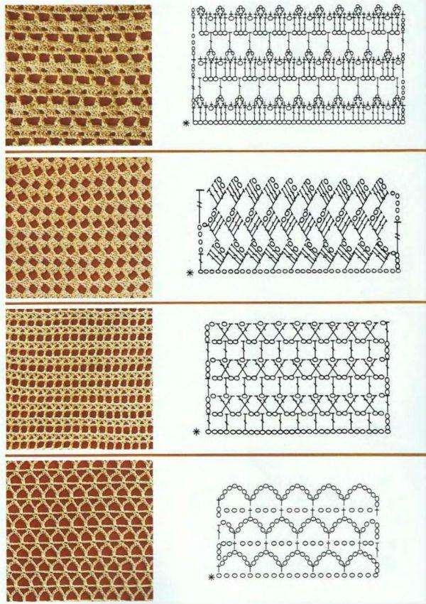 Схема несложного узора фото