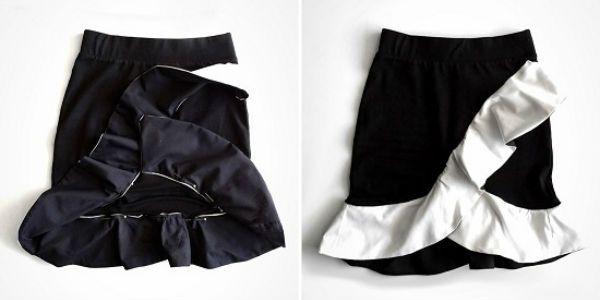 Мини-юбка с рюшами фото