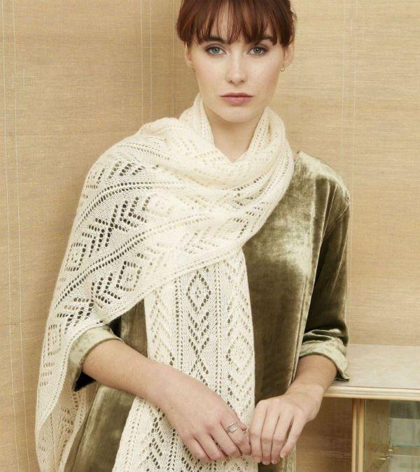 Длинный ажурный шарф фото