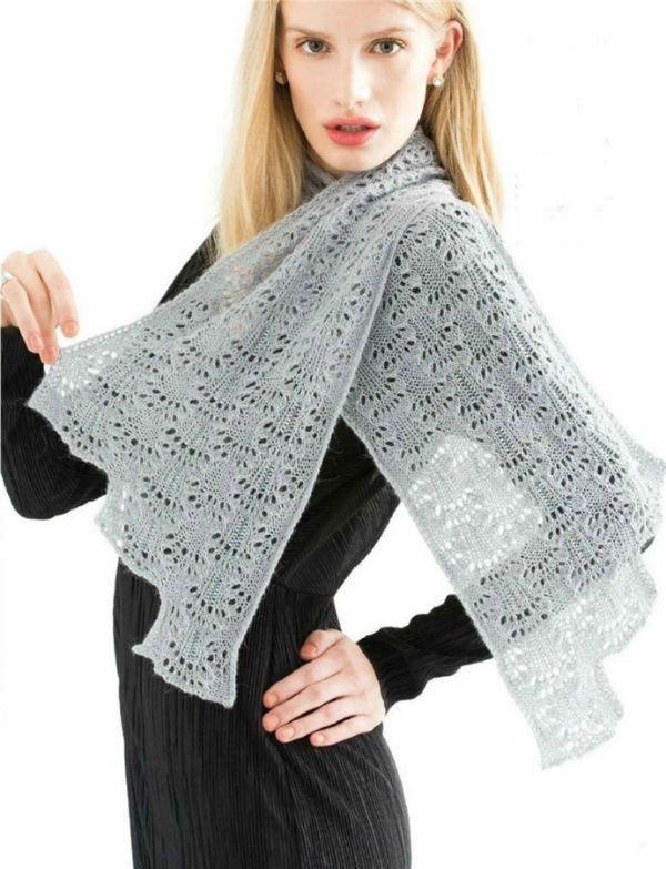 Нежный ажурный шарф фото