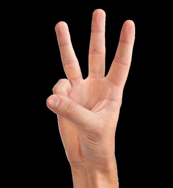 Три пальца фото