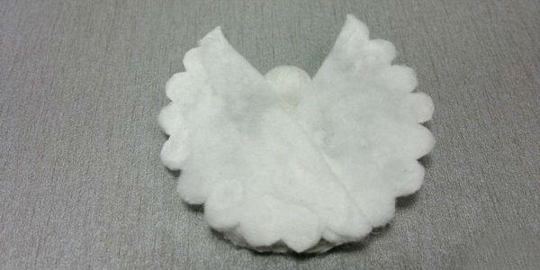 Ангел из ватных дисков крылья 4 фото