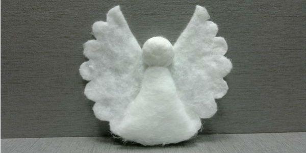 Ангел из ватных дисков крылья 5 фото