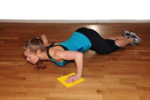 Аэробика отжимания упражнение 2 фото