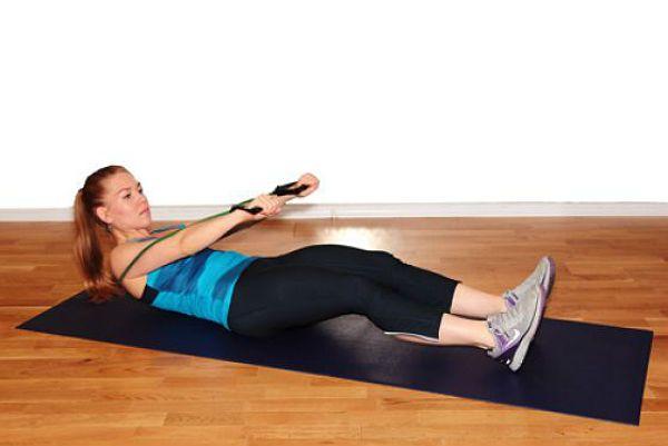 Пресс со скручиванием упражнение 2 фото