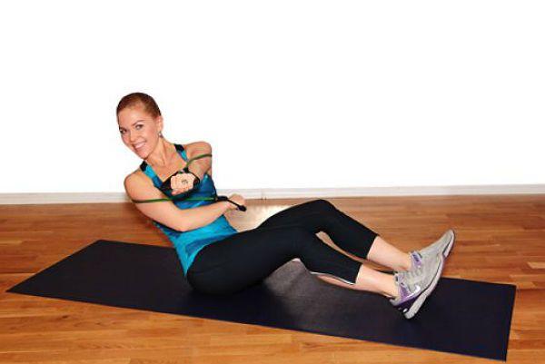 Пресс со скручиванием упражнение 3 фото