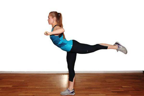 Разгибание бедра с тягой к груди упражнение 2 фото