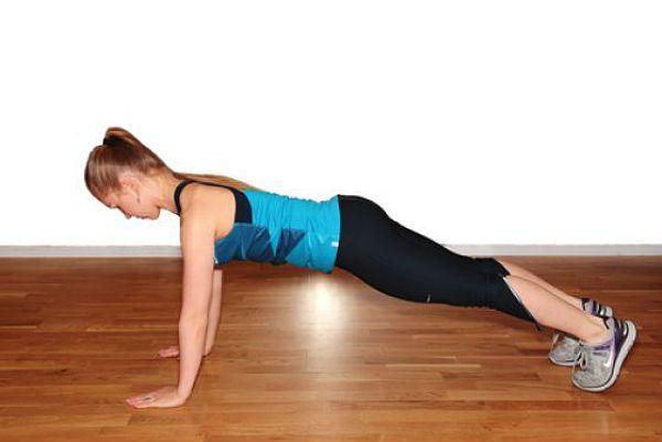 Разгибание корпуса с выпрыгиванием в планку упражнение 4 фото