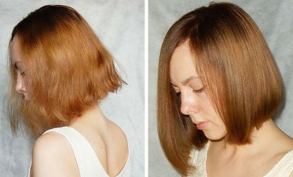 Фотография полировки волос