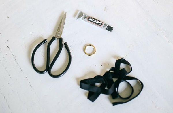 Материалы для создания чокера с кольцом фото