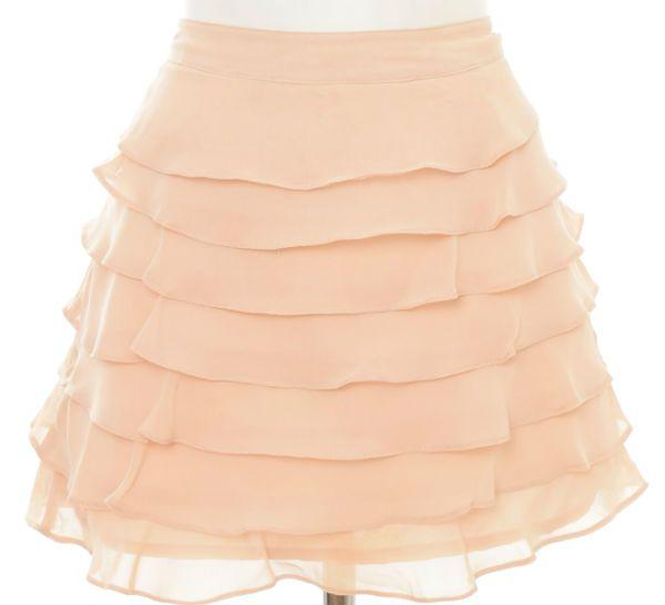 Многоярусная юбка фото