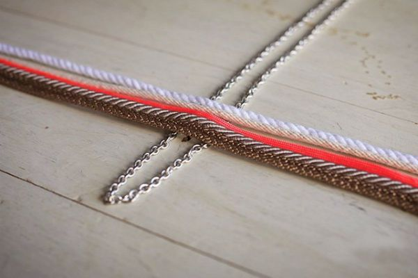 Плетение кулона шаг 1 фото
